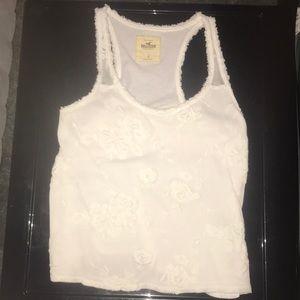 White lace Hollister tank